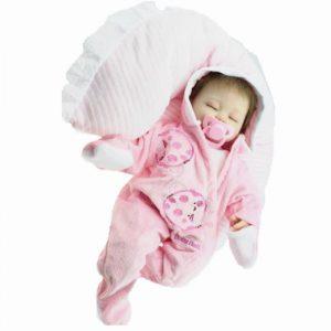 16 tums Reborn Baby Docka Mjuk Kropp Silikon Girl Lifelike BeBe Reborn Handgjorda Kits Födelsedag Toy