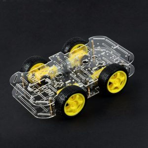 DIY 4WD Smart Robot bil Dubbeldäck Chassis Kit med Speed ​​Encoder