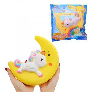 SINOFUN Squishy Unicorn Moon 22cm långsammare med Packaging Collection Present Decor Toy
