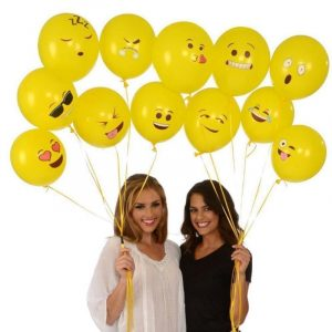 12 tum Random Smile Balloon Festival Ballong biltoon Expression Ballong Gul Uppblåsbara Leksaker
