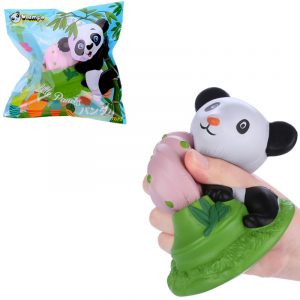 Vlampo Squishy Panda Potted 15cm Licensierad Slow Rising med Packaging Collection Present Soft Toy