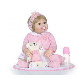 NPK 23 tum 57cm Silikon Full Girl Body Reborn Docka Real Life Princess Baby Docka För Barnens Dag