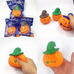 Kameleon Soft Halloween Pumpkin Witch Hat Squishy Långt Stigande Stress Stretch barns Toy Present