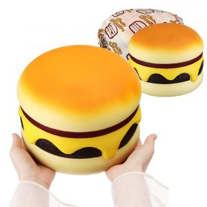 Cutie Creative Squishy Ost Beef Burger Humongous Giant Hamburger 22cm Bröd Jumbo Present Mjuka Leksaker