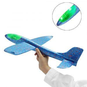 48cm LED Ljus Hand Lansering Kasta Flygplan Flygplan Glider DIY Tröghetsskum EPP Plane Toy