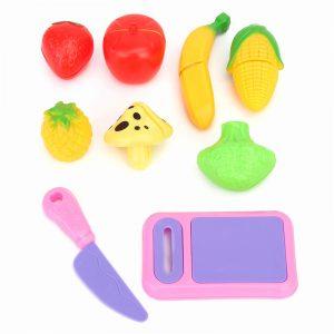 9st Frukt Grönsaksmat Skärande Stycken Ställ Barn barns Rollspel Toy Present