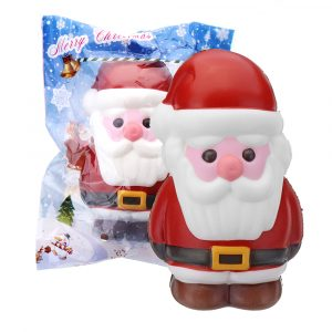 Coolant Christmas Santa Claus Squishy 14,2 × 8,4 × 9,2 cm Mjukt långsamt stigande med Packaging Collection Present Toy