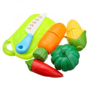 6st Fun Cut Grönsaker Klipp Mat Kök Spela Set Barn Rollspel Toy
