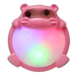 2209-10 barns Puzzled Hippo Music Light Drum Tidig utbildning Toy Musical Sound Beat Fun Present