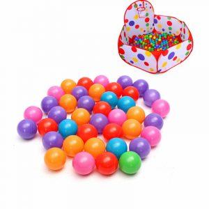 100st 5.5cm Mjukt Plast Ocean Ball Säkert Barn Pit Leksaker Swim Colorful Ball Leksaker