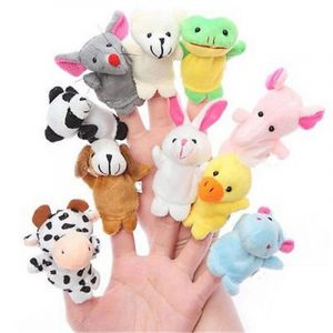 Farm Zoo DjurFinger Dockor Fyllda Plush Leksaker Bedtime Story Fairy Tale Fable Boys Girls Party To