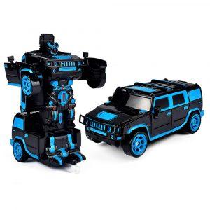 1/18 2 I 1 Rc bil Sports Trådlös Transformation Robot Modeller Deformation Fighting Leksaker