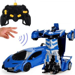 Wei Yu Leksaker 1/14 2.4G Båg Induktion Radio Control Rc Bil En-Key Deformation Lighting Robot