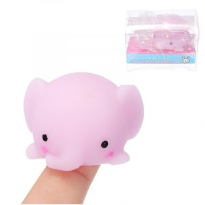 Elephant Mochi Squishy Squeeze Söt Healing Toy Kawaii Collection Stress Reliever Present Decor