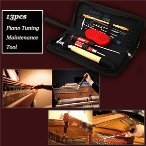13stk Professional Piano Tuning Maintenance Toolkits Hammare Skruvmejsel med fodral