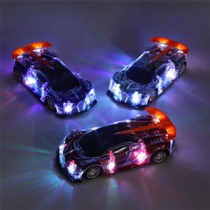 Rc Bil Simulering Färgglada med LED-lampor utan batteri