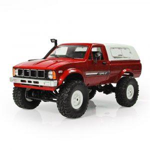 WPL C24 1/16 RTR 4WD 2.4G Militär lastbil Buggy Crawler Off Road RC Bil 2CH Toy
