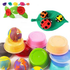 24 Bright Colors Carton Installerad Super Light Hand Clay Slime Educational Leksaker