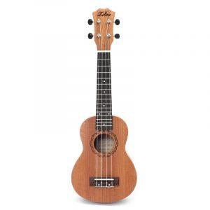Zebra 21 tum Mahogany Ukulele Uke 15 Frets Sopran Hawaiian Guitar Musical Instrument