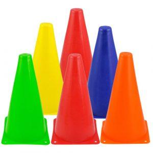 Färgglada Agility Marker Slalom Cones för Rullskridskoåkning Trafik Sport