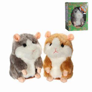 Söt Mimicry Pet Talking Hamster Tala Ljud Record Fylld DjurElektronisk Hamster Plysch Present
