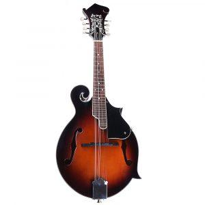 Classic Sunburst F Modle 24 Frets 8 String Paulownia Trä Mandolin Med Väska