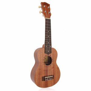 21 tums Sopran Ukulele Uke Sapele 12 Frets Musical Instrument