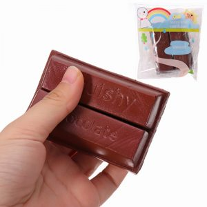 YunXin Squishy Chocolate 8cm Sweet Slow Rising med Packaging Collection Present Decor Toy