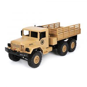 WPL B16 1/16 2.4G 6WD Militär lastbil Crawler Off Road RC bil med lätt RTR