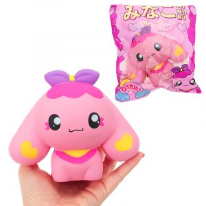 Butterfly Dog Squishy 15 * 13cm långsammare med Packaging Collection Present Soft Toy