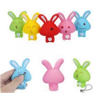 Squishy Rabbit Bunny 8cm Mjukt Långsam Rising Telefonväska Remband Decor Collection Present Toy