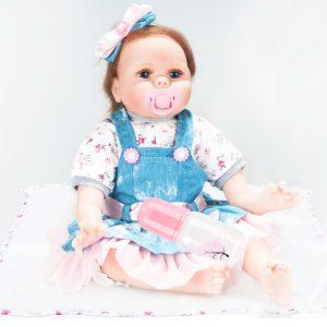 Oubeier Reborn Docka Vinyl Body 55CM Handgjord Silicone Girl Lovely Cloth Leksaker barns Present