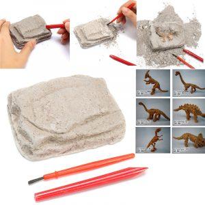 Dinosaurfossiler Utgrävningssats Arkeologi Uppgradera Historia Skelett Roligt Barn Presentpussel