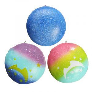 Squishy Starry Night Star Moon Bunbröd 9cm Present Mjuk Långsam Rising Med Packaging Decor Toy