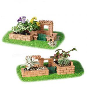 Visdom Byggd DIY Modell Byggnad Trädgård Livlig Tegel Byggnadsbyggnad En Hus Strandleksak