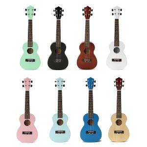 23 tums Ukulele konsertgitarr Rosewood Colorful Hawaii akustisk med väska