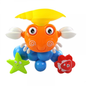 Baby Crab Windmills Bath Leksak Kran Plastic Wash Leksaker Spray Water Fun