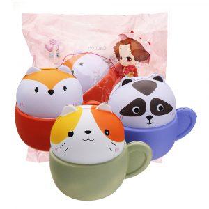 Coolant Squishy Cup Kattkattunge Djurdjur 10,5 * 9,6 * 8cm Mjukt Långsam Rising Med Packaging Collection Present Toy