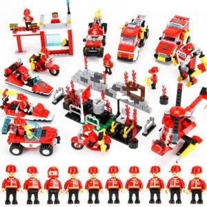 8 i 1 845 st byggblock Brandstation DIY Pedagogiska Intelligens Creative Barnleksaker
