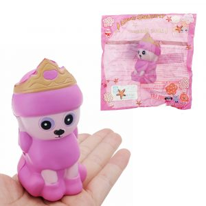 Crown Husky Squishy 9,2 * 4,5 * 5,2 cm långsammare med Packaging Collection Present Soft Toy