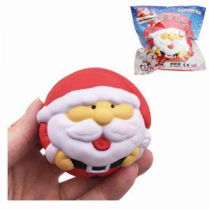 SquishyFun Squishy Snowman Fader Jul Santa Claus 7cm långsammare med Packaging Collection Present Decor
