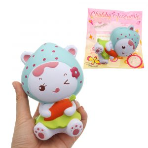 Strawberry Girl Squishy 12cm långsammare med Packaging Collection Present Soft Toy
