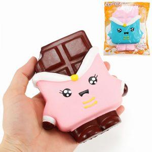SquishyFun Chocolate Squishy 13cm långsammare med Packaging Collection Present Decor Soft Toy