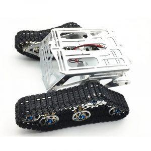 DIY Smart Robot Tank Chassis Kit RC Spårad Bil med Crawler Kit för Arduino