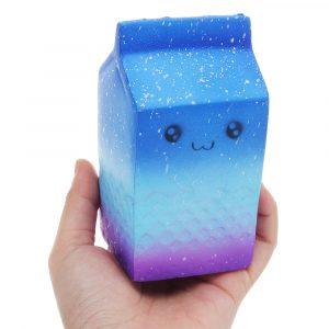 Mjölklåda Squishy 12 * 6CM långsammare med Packaging Collection Present Soft Toy