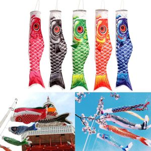 100cm Koi Nobori bilp Vindsocka Koinobori Fish Kite Flag Hanging Decor