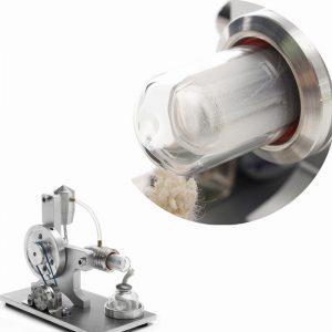 Glasrör Reservdel för Stirling Motormodell Fysisk motoraggregat extern förbränning