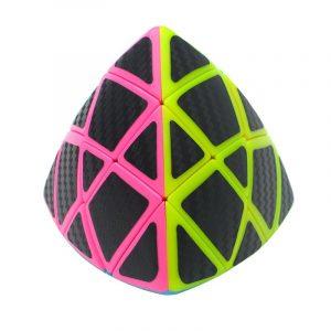 Classic Cone Magic Cube Leksaker PVC Klistermärke Block Puzzle Speed Cube Fiber bilbon