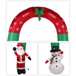 Julfest Heminredning Uppblåsbara 2,4 meter snöbågar med integrerade fläktleksaker Propsr