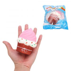 Puff Cake Squishy 10 * 8,5 cm långsammare med Packaging Collection Present Soft Toy